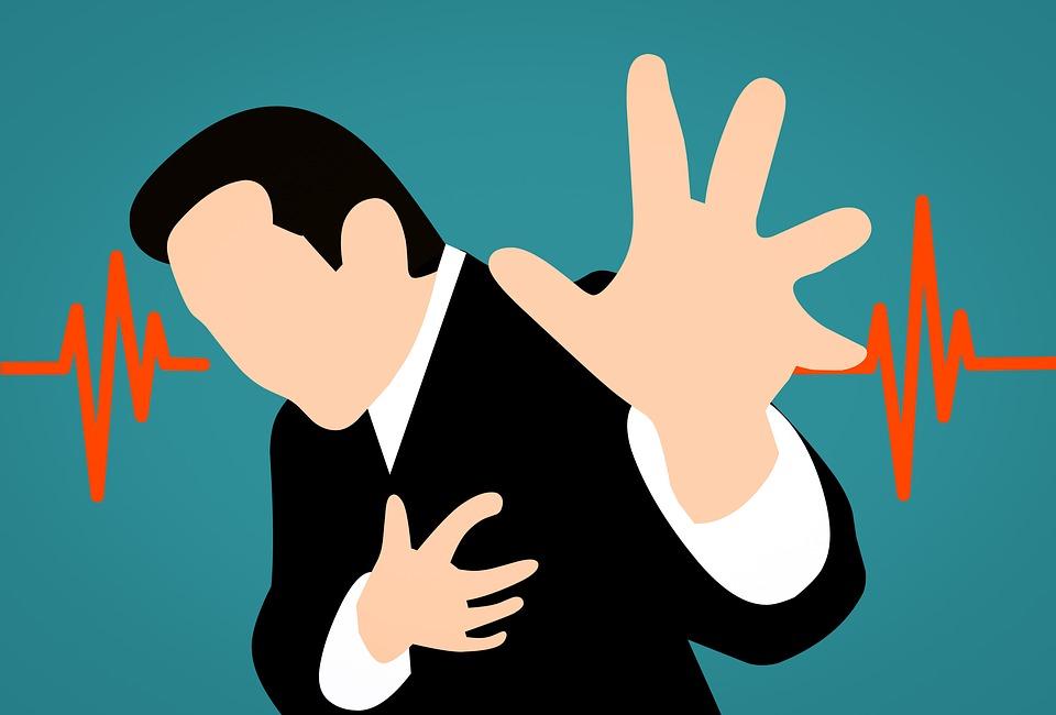 clip art of man having heart attack